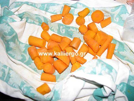 Στεγνώνω τα καρότα