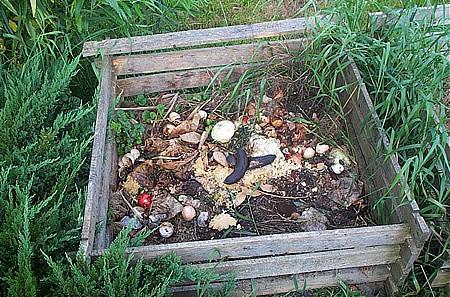 Παρασκευή κομπόστ σε κήπο