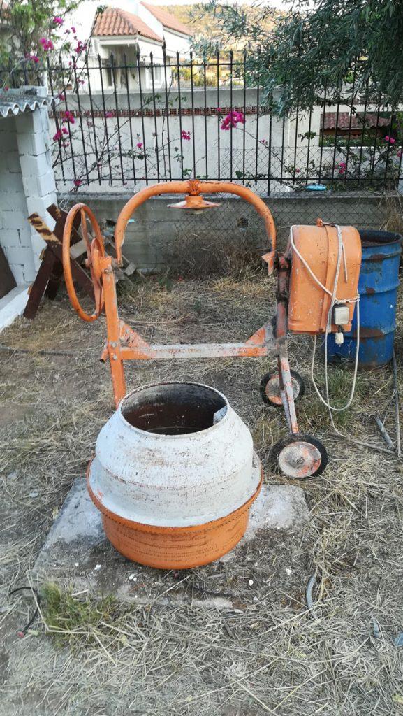 Μπετονιέρα Παλιά Ηλεκτρική Πορτοκαλί