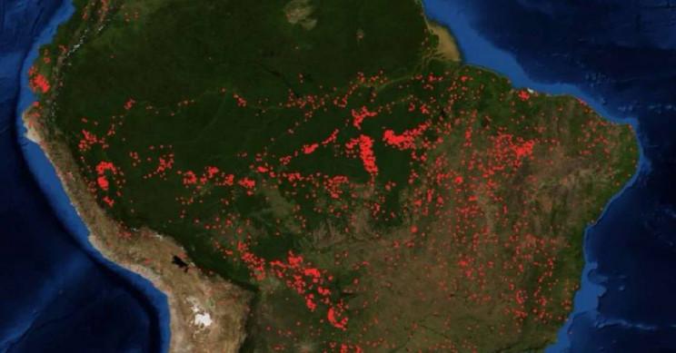 Φωτιές Αμαζόνιος Nasa